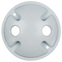 "Legrand Gray 1-Gang Round Cover with (2) 1/2"" Holes"
