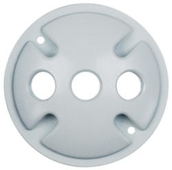 "Legrand Gray 1-Gang Round Cover with (3) 1/2"" Holes"