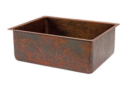 """25"""" Hammered Copper Kitchen Single Basin Sink at Menards"""