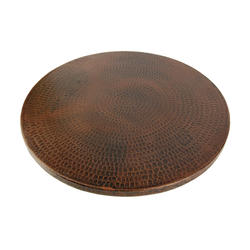 """20"""" Hand-Hammered Copper Lazy Susan"""