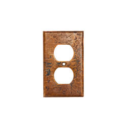 Copper Switchplate Single Duplex 2-Hole Outlet Cover