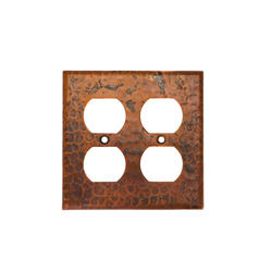 Copper Switchplate Double Duplex 4-Hole Outlet Cover