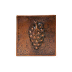 "4"" x 4"" Copper Grape Tile"