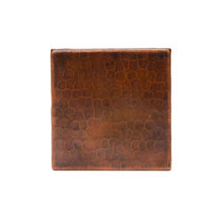 "4"" x 4"" Hammered Copper Tile"