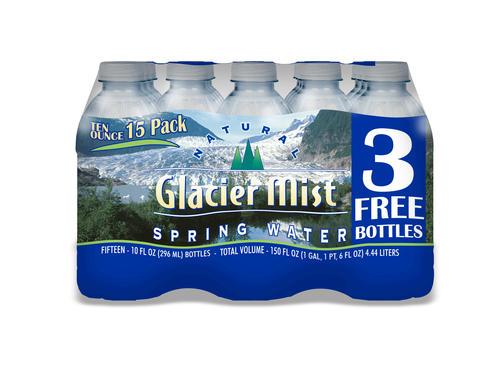 Glacier Mist Natural Spring Bottled Water