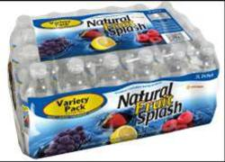 Natural Fruit Splash Flavored Variety Pack Bottled Water - 24-pk