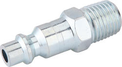 "1/4"" x 1/4"" Zinc Male-to-Male Industrial Plug"
