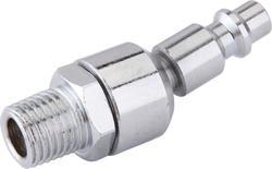 "1/4"" x 1/4"" Zinc Male-to-Male Swivel Industrial Plug"