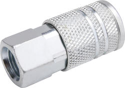 """1/4"""" x 1/4"""" Zinc 4-Ball Female-to-Female Industrial Coupler"""