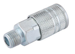 """1/4"""" x 1/4"""" Zinc 4-Ball Female-to-Male Industrial Coupler"""