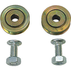 """Prime-Line 2-Pack 5/16"""" x 1"""" Steel Ball Bearing Concave Rollers with Fasteners"""