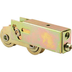 """Prime-Line 3-1/8"""" Adjustable Steel Ball Bearing Tandem Roller Assembly with Steel Wheels"""
