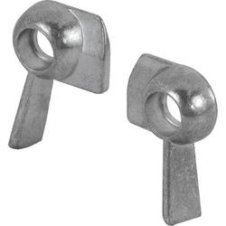 "Prime-Line 1"" x 3/4"" Zinc Diecast Sash Lock Set"