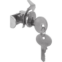 "Prime-Line Nickel 5-Pin Tumbler Mailbox Lock with 13/16"" Bolt Throw"