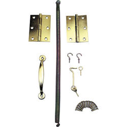 Prime-Line Brass-Plated Steel Wood Screen Door Kit