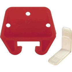 "Prime-Line 25/32"""" Red Polyethylene Drawer Track Guide Kit"