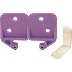 "Prime-Line 1-1/4"" Purple Plastic Drawer Track Guide Kit"