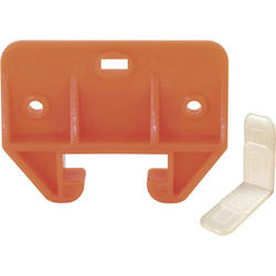 "Prime-Line 1-3/32"" Orange Polyethylene Drawer Track Guide Kit"