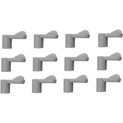 "Prime-Line 12-Pack Gray Plastic Screen Clips with 3/8"" Offset"
