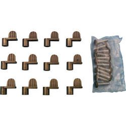 """Prime-Line 12-Pack Bronze Diecast Screen Clips with 5/16"""" Offset"""