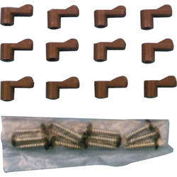 "Prime-Line 12-Pack Bronze Plastic Screen Clips with 5/16"" Offset"