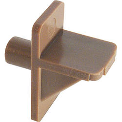 "Prime-Line 12-Pack 1/4"" Diameter Brown Plastic Angle Shelf Support Pegs"