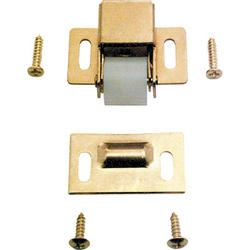 """Prime-Line 1-3/8"""" Brass-Plated Steel Roller Catch"""