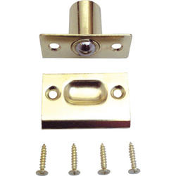"""Prime-Line 2-1/4"""" Brass-Plated Diecast Bullet Catch"""