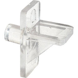 "Prime-Line 12-Pack 1/4"" Diameter Clear Plastic Angle Shelf Support Pegs"