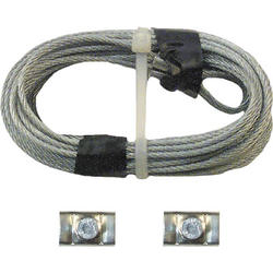 "Prime-Line 2-Pack 1/8"" x 8' 8"" Carbon Steel Safety Cables"