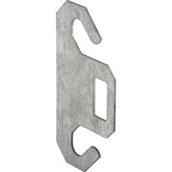 "Prime-Line 2-Pack Steel Dual Spring Hook Plates for 3"" Pulley"