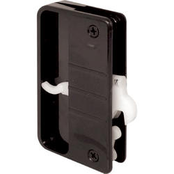 "Prime-Line A108 3-3/4"" Black Plastic Sliding Screen Door Latch and Pull with Security Lock"