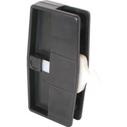 """Prime-Line A109 4"""" Black Plastic Sliding Screen Door Latch and Pull with Security Lock"""