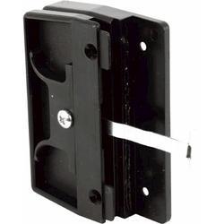 "Prime-Line 3-1/4"" Black Plastic Sliding Screen Door Latch and Pull"