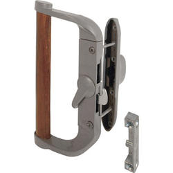 "Prime-Line 3-1/2"" Aluminum Sliding Door Handle Set with Wood Pull"