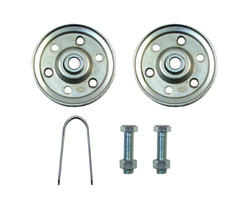 "Prime-Line 2-Pack 3"" Steel Garage Door Pulleys with Straps and Axle Bolts"