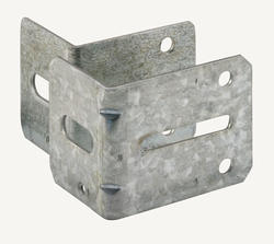 "Prime-Line 2-Pack 2-1/4"" and 2-3/4"" Steel Track Brackets"