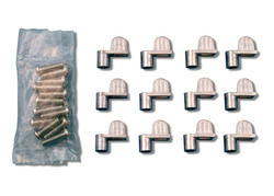 """Prime-Line 12-Pack Diecast Mill Finish Screen Clips with 5/16"""" Offset"""
