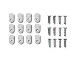 Prime-Line 12-Pack Flush White Plastic Screen Clips with Screws