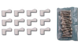 "Prime-Line 12-Pack White Plastic Screen Clips with 7/16"" Offset"