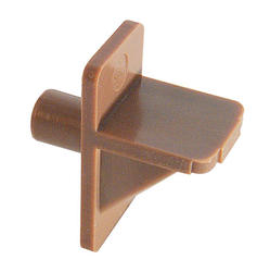 """Prime-Line 8-Pack 1/4"""" Diameter Brown Plastic Angle Shelf Support Pegs"""