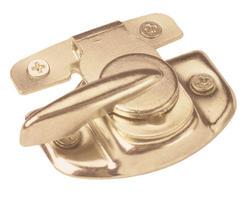 "Prime-Line 1-3/4"" Brass Finish Steel Sash Window Lock"