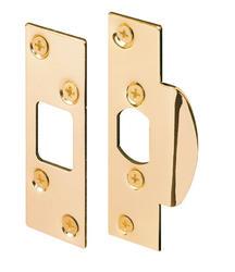 Prime-Line 2-Pack Brass-Plated Steel Security Strike Kit
