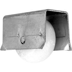 "Prime-Line 2-Pack 3/4"" Steel Roller Assemblies with 1/2"" Plastic Convex Wheels"