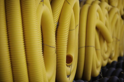 100 Yellow Corrugated Drain Tile Solid At Menards 174