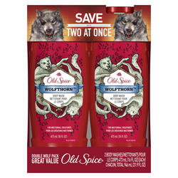 Old Spice Wild Wolfthorn Body Wash Twin Pack - 16 oz ea