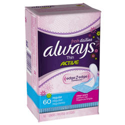 Always Incredibly Thin Clean Scent Panty Liners - 60-ct
