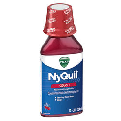 Vicks NyQuil Cherry Nighttime Cough Relief Liquid - 12 oz