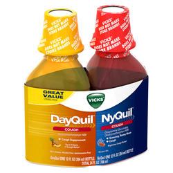 Vicks DayQuil/NyQuil Cough Relief Liquid Combo Pack - 12 oz