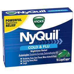 Vicks NyQuil Cold & Flu Nighttime Relief LiquiCaps - 16-ct